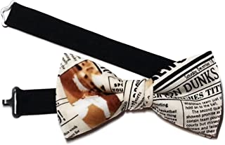 newspaper print bow tie
