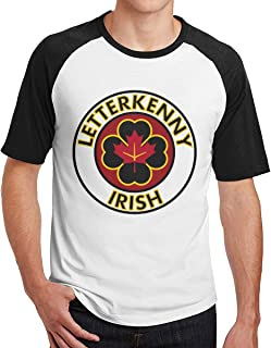 Letterkenny Irish Shoresy Men's Short Sleeve Raglan Shirt Raglan Baseball Tee