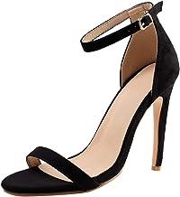Zapatos de Tacón de Aguja Moda Sandalias de Verano 2019 para Fiesta de Tacon Alto Correa del Tobillo Sandalias Sexy Elegante Zapatos del Dedo del pie Puntiagudo Mujer