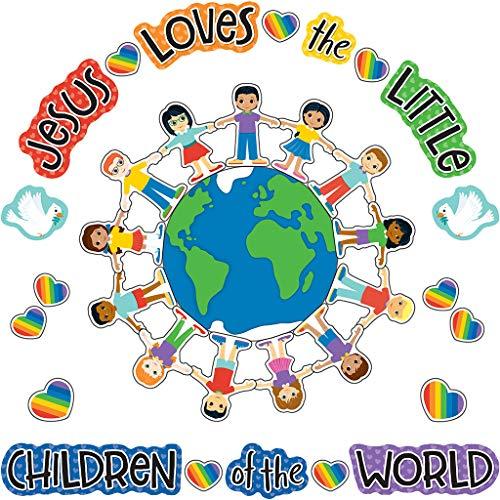 Carson Dellosa | Jesus Loves the Little Children Bulletin Board Set | Christian, 41pcs