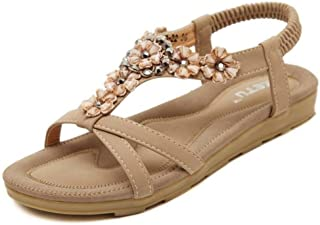 ccf716c9e703 Amazon.ca  Bungee - Flats   Sandals  Shoes   Handbags