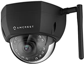 Amcrest 4MP UltraHD Outdoor WiFi IP Security Camera, 4-Megapixel (2688 x 1520), IK10 Vandal-Proof Dome Wireless Camera, IP67 Weatherproof, 118º FOV, MicroSD Storage, Mobile Viewing, IP4M-1028 (Black)