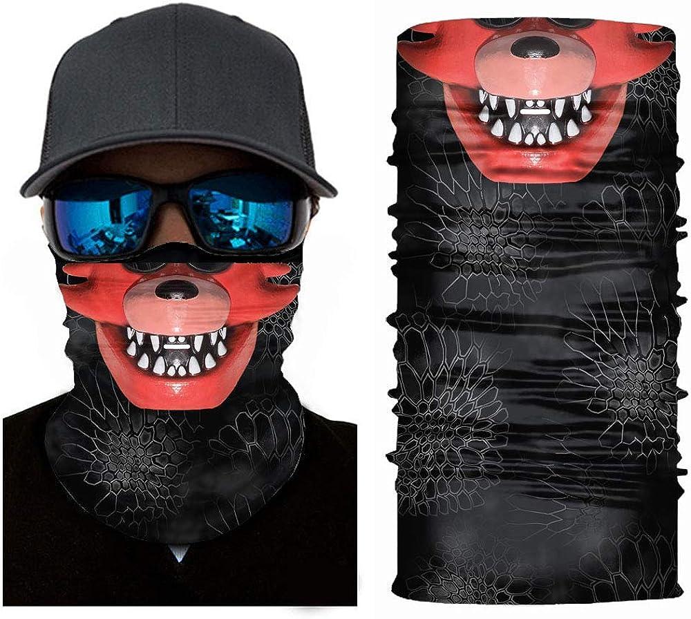 Sun UV Protection Face Mask Five Nights at Freddy's Balaclava Halloween Tube Mask Neck Gaiter