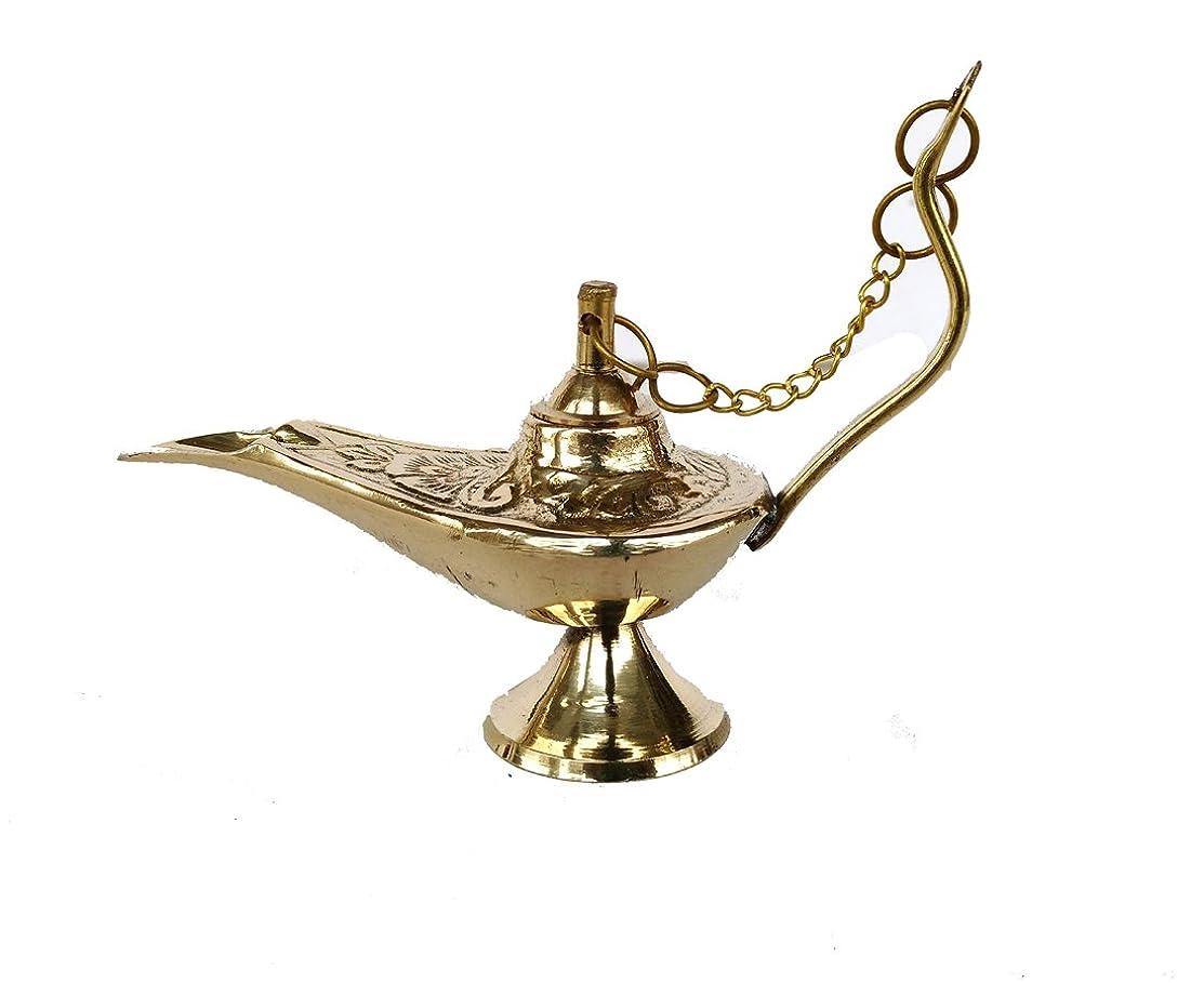 翻訳急勾配の耐えられるRastogi Handicrafts真鍮Aladdin Genie Lamps Incense Burners Big and Smallサイズゴールデンカラーランプ 4 x 3 inch zfzfs