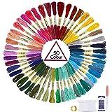 Oladwolf Stickgarn Set Stickerei Kreuzstich 50 Farbfäden