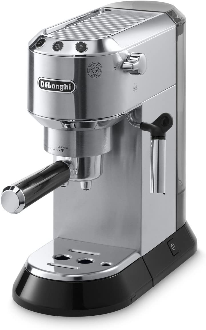 De'Longhi stainless steel space saver coffee maker