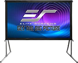 Elite Screens Yard Master 2, 120 inch Outdoor Projector Screen with Stand 16:9, 8K 4K Ultra HD 3D Fast Folding Portable Mo...