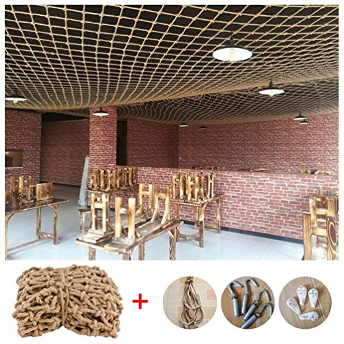 Safe Net Balcony Stair Protection Anti-fall Net Net Hammock for Stuffed Animals,Safety Netting for Railings/Stairs,Natural Jute Material,10mm/10cm,Multiple Sizes (Size : 3x5m)