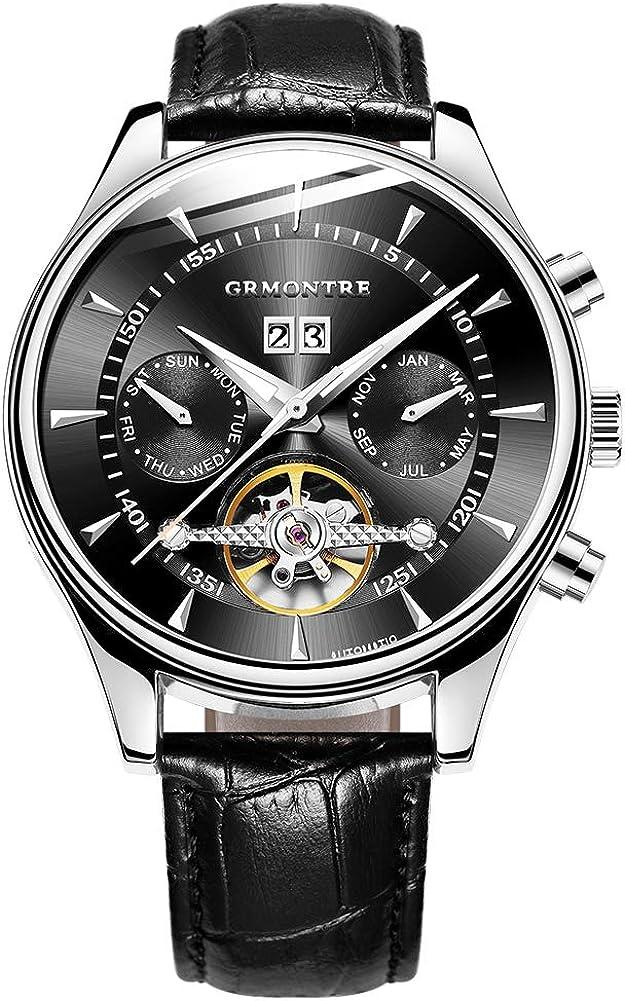Max 44% OFF San Antonio Mall GRMONTRE Luxury Watches for Skeleton Auto Mechanical Men