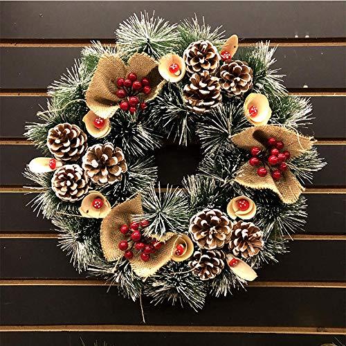 NBBEIBAO krans kerstgroene glanzende kunstmatige slinger-decoratiedeur- en raamwandfeestdag Levert feestdecoratie PVC
