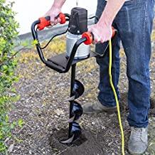 XtremepowerUS 1500W Industrial Electric Post Hole Digger Fence Plant Soil Dig Powerhead include 6