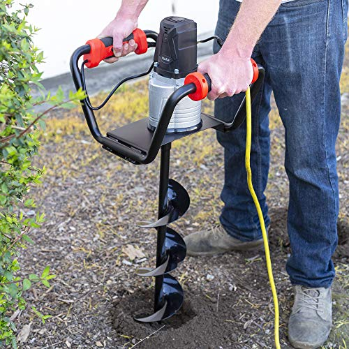 XtremepowerUS 1500W Industrial Electric Post Hole Digger Fence Plant Soil Dig Powerhead include 6'...