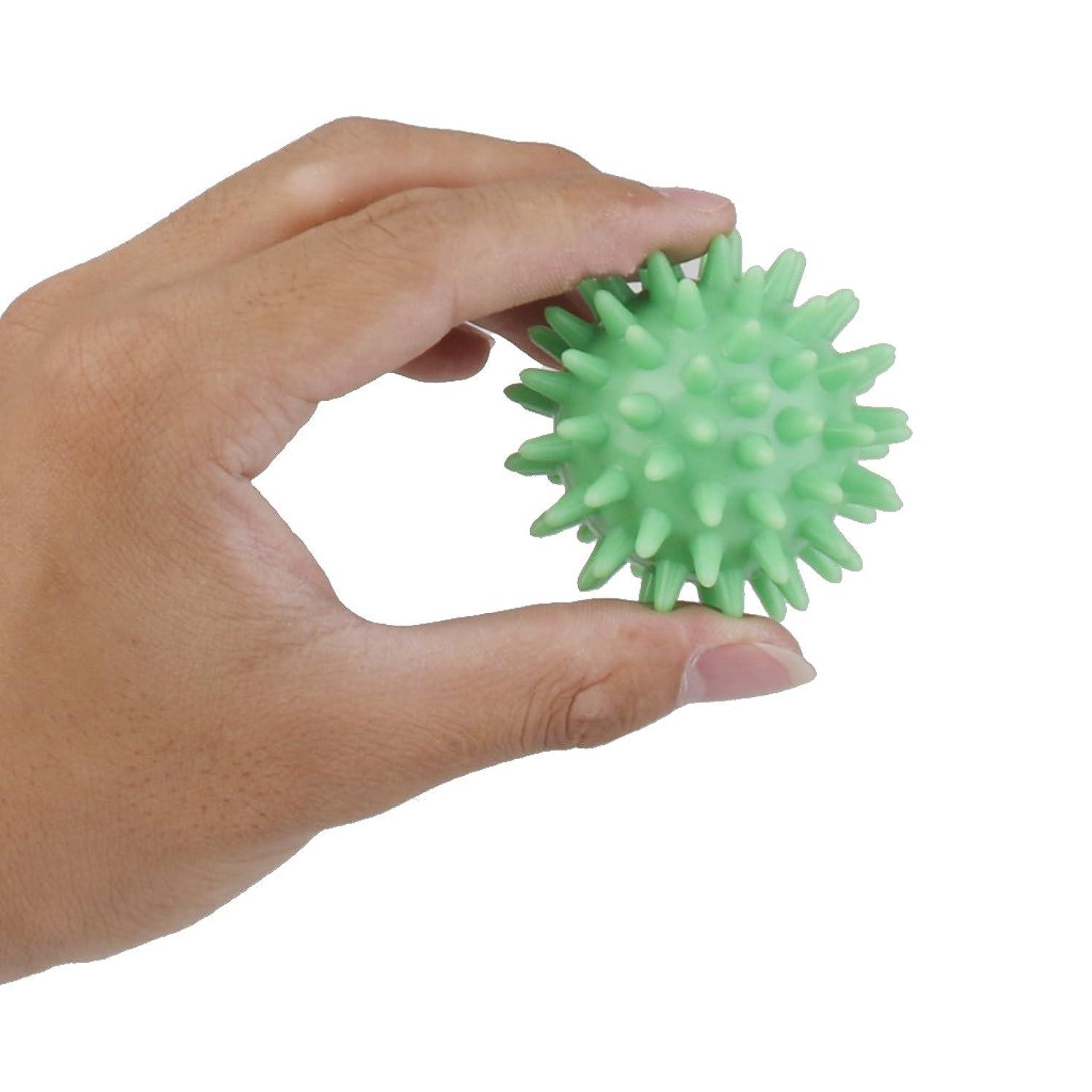 暖かさアルミニウム赤chiwanji マッサージボール 触覚ボール 筋膜リリース 5.5cm 血液 循環 促進 マッサージ ツール 緑
