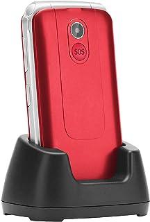 Flip Phone Unlocked, Uleway 2.8'' Large Screen Big Button Emergency Key Charging Dock 3G WCDMA Cell Phone for Elderly (Re...