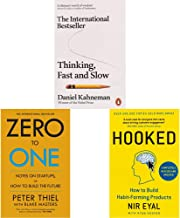 Thinking, Fast and Slow (Penguin Press Non-Fiction)+Zero to One: Notes on Start Ups, or How to Build the Future+Hooked: Ho...