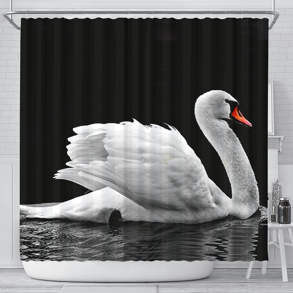 Pawlice Gorgeous Tucson Mall Lovely Swan Bird Curtains Print Shower