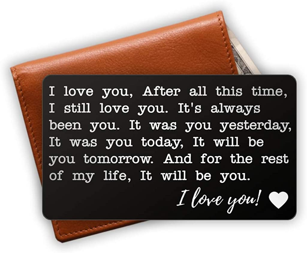 Love Note Wallet Insert - Personalized Engraved Wallet Card - Husband Gift - Gifts for anniversary - Unique Anniversary Wallet Insert Gift