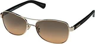 Coach Aviator Unisex Sunglasses - Brown Lens, 7054-9223/95