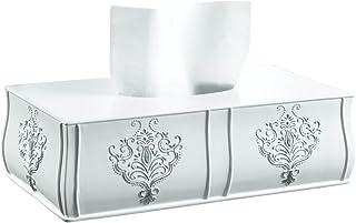 Creative Scents Vintage White Tissue Box Cover Rectangular (11.25 x 6.25 x 3.25) ? Decorative Bath Tissues Paper Napkin Ho...