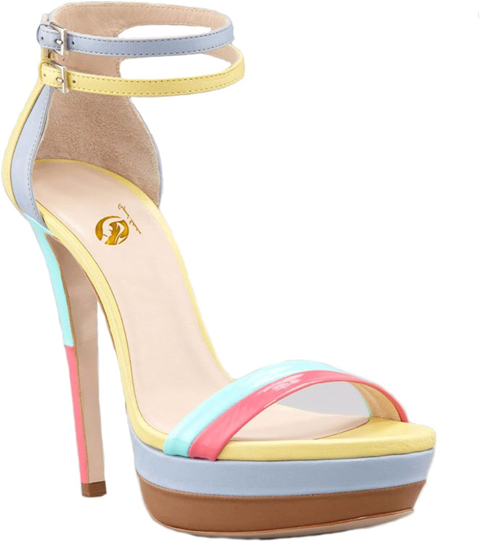 Original Intention Women Sandals Strappy Platform Open Toe StilettoThin High Heels Ankle Strap shoes