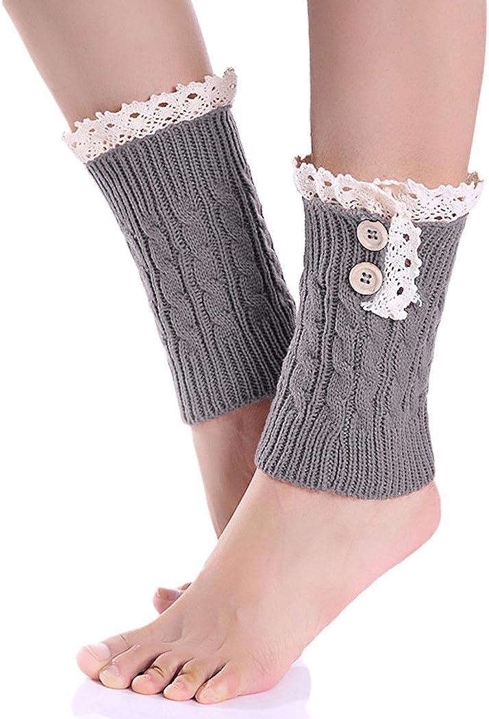 Winter Leg Warmer Crochet Knit Boot Socks