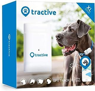 Tractive Localizador GPS XL para perros, batería dura hasta 6 semanas, rango ilimitado, 35 g