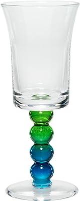 Merritt Impressions Pearl Stem Acrylic Wine Glass, Peacock