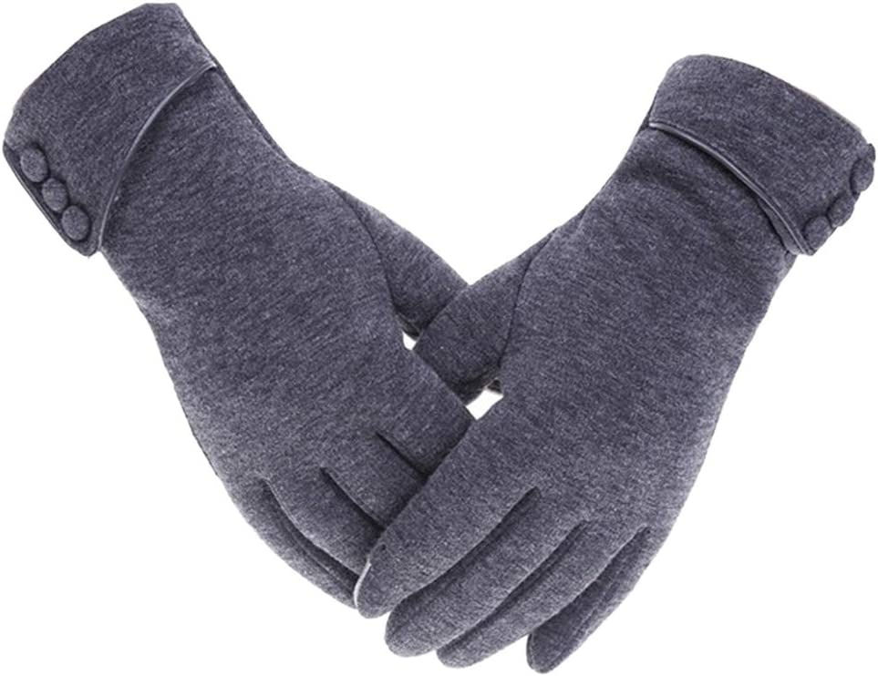 shamjina Comfortable Soft Touchscreen Windproof Warm Winter Gloves for Women Lady - Gray, 23.5cm