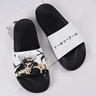 Home Slippers For Women,Anime Cartoon Tokyo Ghoul Beach Slippers Summer Outdoor Bathroom Slippers Men And Women Sandals Sw...