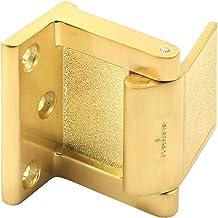 PRIME-LINE Bloqueador de porta de hotel/batente de porta em latão acetinado, dourado, MP4934