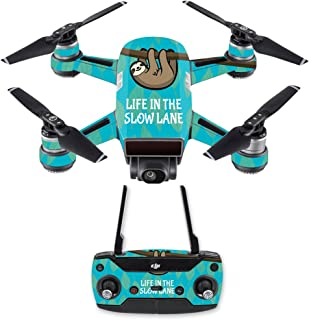 MightySkins Skin Compatible with DJI Spark Mini Drone Combo - Slow Sloth | Protective, Durable, and Unique Vinyl Decal wrap Cover | Easy to Apply, Remove, and Change Styles | Made in The USA