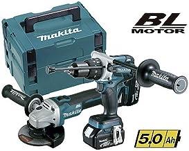 Makita DLX2130TJ2 - Kit Combo con Miniamoladora DGA504Z 125mm + Taladro Percutor DHP481Z 115Nm