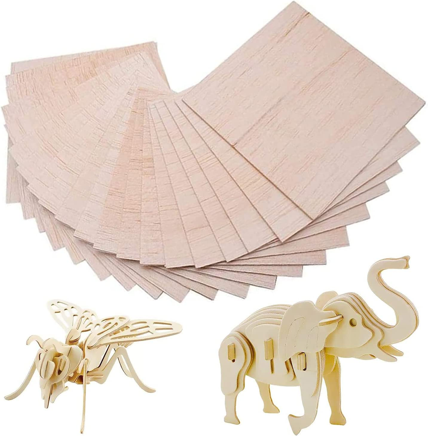 15 PCS San Antonio Mall Balsa Wood Sheets - Wooden Unfinished Boards Colorado Springs Mall Plywood Thin