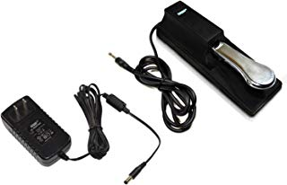HQRP AC Adapter & Sustain Pedal for Yamaha YPG-235 YPG-535 YPT-230 DGX-230 DGX-530 DGX-640 Piaggero NP11 NP31 NPV80 PSR-175 PSR-172 PSR-E303 DGX-203 PSR-295 DGX-300 DGX-505 PSR-262 PSR-280 Keyboards