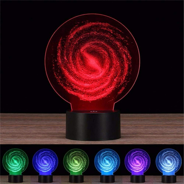 Limhua 3D Led Nachtlicht 7 Farbwechsel Remote Touch Switch 3D Lichter USB Schlafzimmer Schreibtisch Tischlampe,Blautooth-Lautsprecher