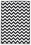 [page_title]-onloom Moderner Teppich in Schwarz-Weiß, Designerteppich in 3 Motiven. Flachwebteppich, geometrische Muster, Größe:100 x 150 cm, Farbe:ZIck-Zack