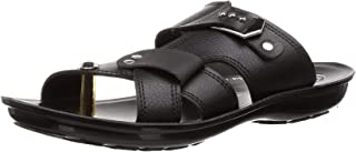 PARAGON Men's Black Formal Thong Sandals-10 UK/India (44 EU)(PU6758G)