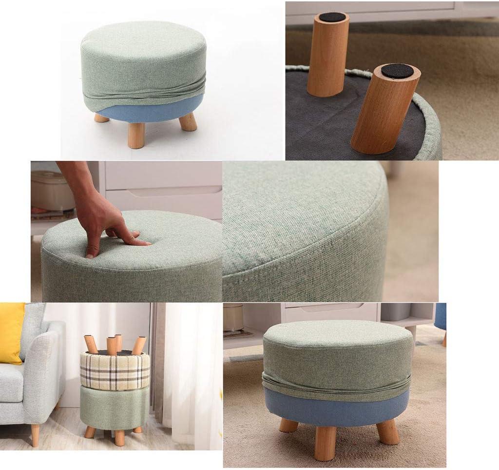 Tabouret Changement De Chaussures Banc Repose-pieds Tissu Salon Tabouret Canapé Polyvalent Amovible Lavable mwsoz (Couleur : C) A