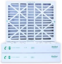 20x25x4 Air Filter MERV 10 by Glasfloss Industries Z-Line Series Pleated Filter (3-Pack) ZLP20254 - Removes Dust, Pollen and Many Other Allergens - Made in USA
