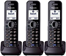 $145 » Panasonic KXTGA950B Dect 6.0 Handset 2-Line Landline Cordless Expansion Handset (3-Pack)