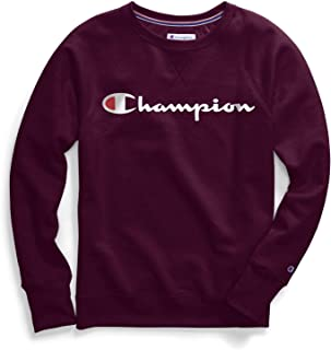 Champion Womens GF914 Plus-Size Powerblend Boyfriend Crew Sweater Long Sleeve Sweatshirt