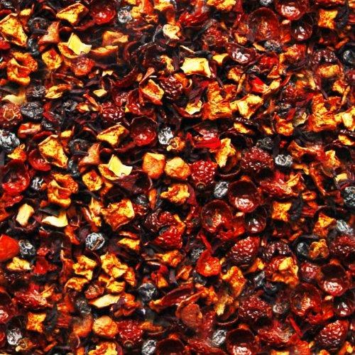 Früchtetee lose Apfelschmaus Apfel, Hagebutten, Korinthen, Hibiskus, Zimt, Vanille Früchte Tee fruchtige Apfel-Mandel-Zimt-Note 100g