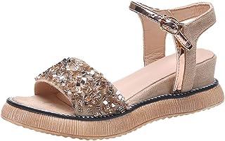 da0aec6bdce027 Chic Sandales Femmes Plates,Yesmile Sandales Casual Chaussures Femme D'éTé  Wedge Avec des