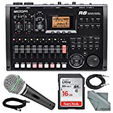 Zoom R8 8-Track Digital Recorder/Interface/Controller/Sampler with Samson Supercardioid Neodymium Dynamic Handheld Microphone and Accessory Bundle