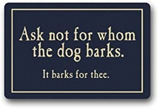 Crystal Emotion Ask Not for Whom The Dog Barks Doormat Machine-Washable Doormat Custom Floor Mat/Gate (23.6 x15.7, color12)