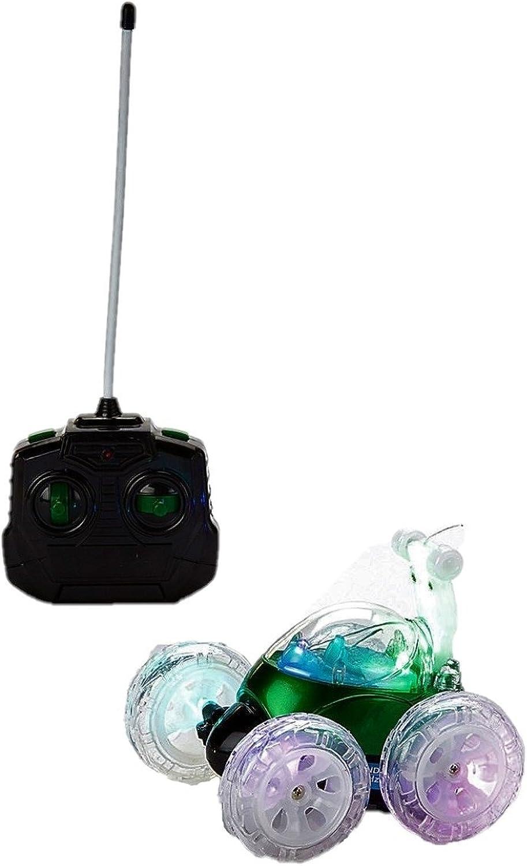 Mindscope Turbo Twisters GREEN 49 MHZ Bright LED Light Up Stunt RC Remote Control Vehicle