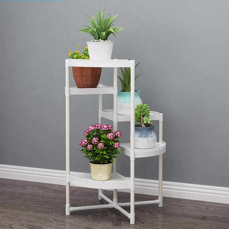 WAN SAN QIAN- Flower Stand Home Floor Storage Rack Living Room Balcony Multi-Layer Plant Shelf Flower Pot Shelves 58  65 80 95 110 125 140 155cm Flower racks (Size   58  80cm)