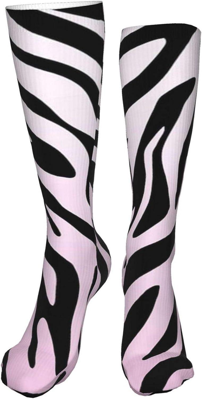 Animal Print Pattern Women Premium High Socks, Stocking High Leg Warmer Sockings Crew Sock For Daily And Work