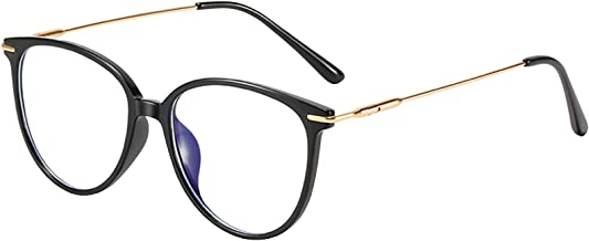 Blue Light Glasses Computer Glasses for Anti Headache and Eyes Strain Round Eyeglasses Frame Blue Light Blocking Glasses f...