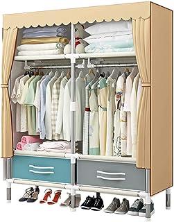 Armario Portable Cloth Gran Capacidad Cloth Empotrado del Organizador del almacenaje Estante de Almacenamiento Gabinete G...